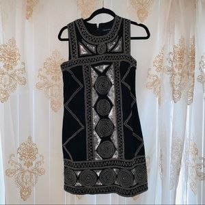 Black Beaded Sequin French Connection Dress 🖤